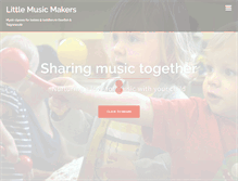 Tablet Preview of littlemusicmakers.co.uk